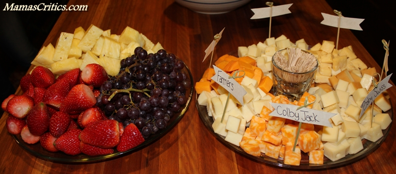 Fruit Tray and Cheese Tray